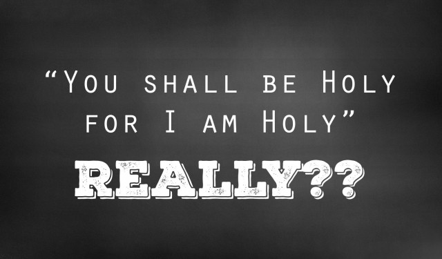 You Shall Be Holy For I Am Holy – REALLY???